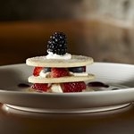 Mille feuille of summer berries with chantilly cream