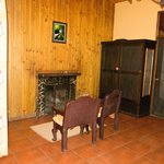 A casita with fireplace in the rooms numbered in the 140s.