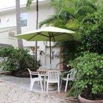 private garden for studio