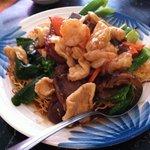 Dim sum - chicken, pork, shrimp pan fried noodle