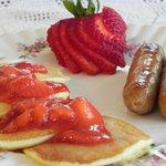 Breakfast varies each day