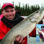 Lonnie King with a nice ice-out trophy pike