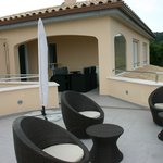 Terrasse panoramique et terrasse couverte