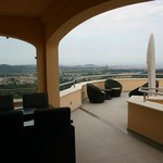 Terrasse panoramique, vue sur la mer et campagne