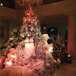 xmass decoration in the lobby