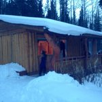 Cabin #3 covered in snow!