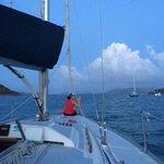 Setting sail at sunset...