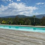 Pool, which has a view over the hills - very peaceful