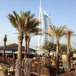 Mina A'Salam pool bar and eating area