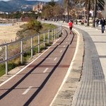 Cycle track going to Palma.