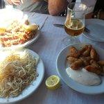 chanquetes,calamares y huevas