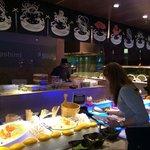 Japanese buffet counter