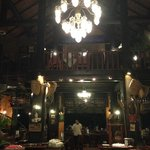 L'interno della reception/ristorante