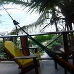 the terrace with relaxing hammock