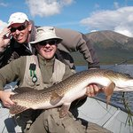 Large Northern Pike caught at Inconnu Lodge