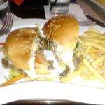 Yummy mushroom burger