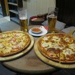 Nice pizzas.