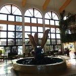 inside lobby area
