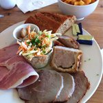 Meat ploughmans lunch.. Very hearty and lush