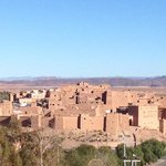 view of Kasbah Taourirt from our bedroom window