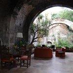 delightful grotto lounging area