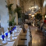 dining room of extraordinary beauty and romantic atmosphere