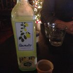 Bottle of Limoncello after dinner