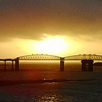 sunset on the mawddach estuary