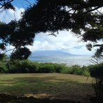 View of Maui from the picnic table