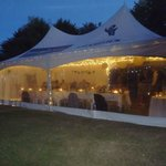 our marquee for the wedding