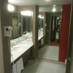 Standard bathroom, tub shower combo