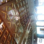 Ceiling above the bar