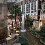 One of the many fountains in the atrium.