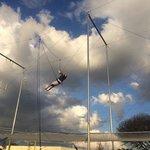 Swinging by my legs!