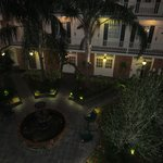 Lovely courtyard at night