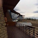 Contrafrente del hotel, al Lago Argentino.