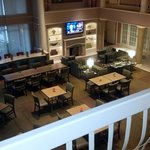 breakfast in the lobby