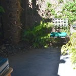 Our private courtyard with hot tub