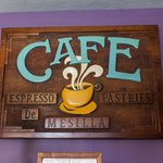 Cafe signboard.