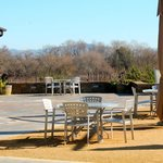 Outdoor patio at Lynmar Estate Winery