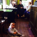 This little coffee shop appeals to all ages. The hard wood floors are original to the house whic
