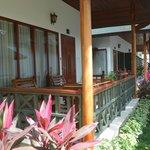 Petit balcon de notre bangalow