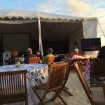 Super bowl tent set up