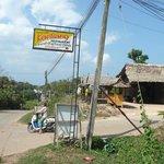 front of restaurant looking towards village