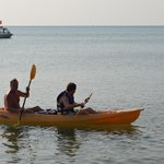 kayaking with son