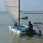 me and son sailing