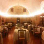 La sala/grotta in cui si cena