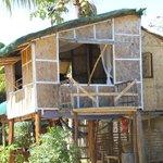The beach-side hut