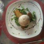 Panna cotta Roquefort/poires