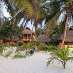 cabañas desde la playa